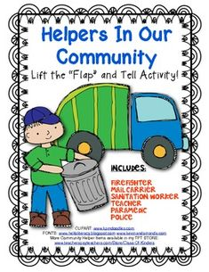 Community Helpers Lift the Flip Activity! Great for Young  Students. $