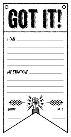 I created this with the thought of creating a wall of accomplishments which can also highlight the strategy the student used to reach their goal.  Would look great on some of that bright 3M paper.