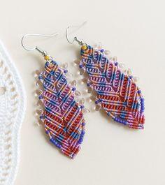 Bohemian macrame earrings by MartaJewelry