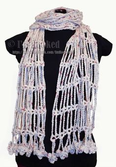 free drop chain scarf crochet pattern