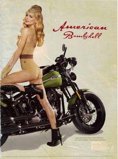 Vintage Harley Davidson Advertisement with Marissa Miller