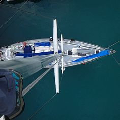 The view from 80 feet up the mast while on a sailing adventure in the Atlantic. Rubicon3 sailing adventures are epic.