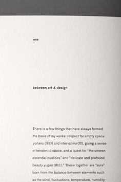 An editorial design for an artist & designer Shun Kawakami. Book Design Layout, Print Layout, Blog Website Design, Print Design, Graphic Design, Romance, More Words, Layout Inspiration, Portfolio Design
