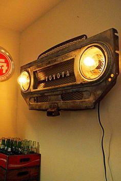 Awesome Toyota 2017: Vintage Toyota Land Cruiser FJ40 grille/bib - steampunk lighting wall art Landcruiser 1983 Check more at carsboard.pro/...