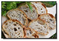 Kváskový Italský kořen s černými olivami Bread Recipes, Snack Recipes, Healthy Recipes, Snacks, Yummy Food, Tasty, Ciabatta, Sourdough Bread, Bread Rolls