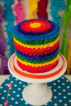 "Rainbow cake from Summer Snow Cones / ""Anna Claire's Snow Cone Party"" 