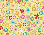 """Riley Blake Designs """"Summer Breeze"""" Summer Main Yellow by Bella Blvd. Sewing and Quilting Fabric FAT QUARTER"""