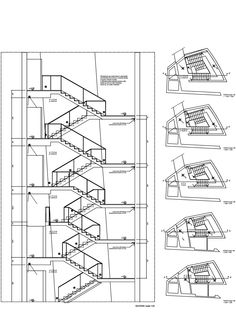 Gallery of Ex Ducati / Mario Cucinella Architects - 9 Staircase Architecture, Revit Architecture, Construction Documents, Construction Drawings, Triumph Motorcycles, Stairs Diagram, Ducati Custom, Mopar, How To Draw Stairs