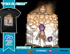 """Parodia la portada de """"Attack on Titan"""",con los Fraggle Rock."""