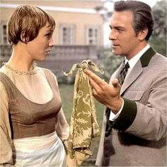 1965 The Sound of Music. Julie Andrews and Christopher Plummer on scene