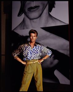 David Bowie, 1990. Photo by Tony McGee.