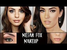 Megan Fox Full Face Makeup Tutorial & New Hair! Jackie Wyers - YouTube