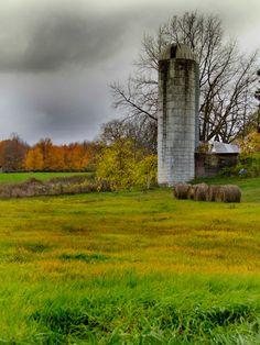"Fine Art Photography - Farm Color Season Fall Michigan - Home Decor - 9"" x 12"" photograph"