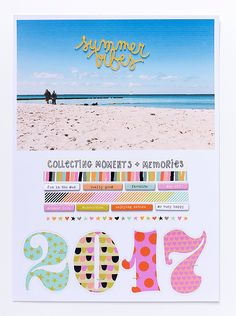 Freckled Fawn | Scrapbook Layout Summer Vibes