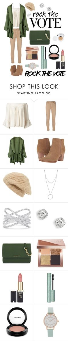 """""""Fall Out"""" by kpopkpop234 ❤ liked on Polyvore featuring Miss Selfridge, AG Adriano Goldschmied, Franco Sarto, Sole Society, Botkier, Effy Jewelry, MICHAEL Michael Kors, Bobbi Brown Cosmetics, L'Oréal Paris and MAC Cosmetics"""