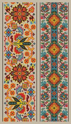 Cross Stitch Pattern Sampler Vintage Borders