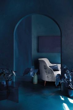 Shop fall decor trend ideas in moody shades of blue, from domino magazine's fall 2016 issue. Shop domino magazine's favorite items in hues of blue for fall Blue Rooms, Blue Walls, Blue Bedroom, Blue Fall Decor, Interior Exterior, Interior Design, Decor Inspiration, Decor Ideas, Best Paint Colors