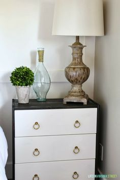 IKEA Rast Hack - love this nightstand and the hardware used!