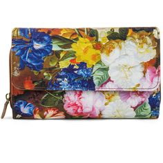 Mundi Big Fat Spring Bouquet Wallet ($20) ❤ liked on Polyvore featuring bags, wallets, flap wallet, mundi wallets, loop wallet, checkbook wallet and mundi