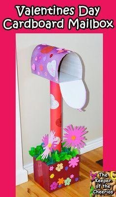 Valentines Day Cardboard Mailbox DIY