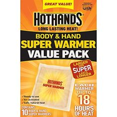 HotHands Body  Hand Super Warmer 70 Count -- To view further for this item, visit the image link.-It is an affiliate link to Amazon. #CampingSafetyandSurvivalEquipments