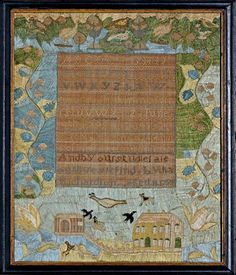 Needlework sampler dated June 4,1799, by Lydia Richardson, 11 y.o., Salem, MA from Stephen & Carol Huber