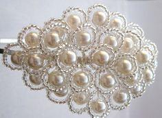 Jasmine - Swarovski Pearl tiara
