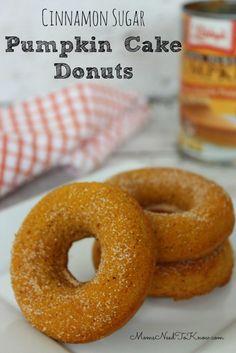 Pumpkin Cake Donuts with Cinnamon and Sugar