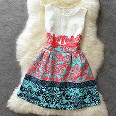 Fashion printed round neck sleeveless dress AX101816ax