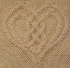Ravelry: Cabled Heart pattern by Devorgilla's Knitting (sometimes...)