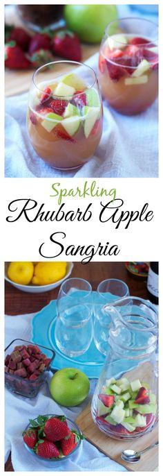 Sparkling Rhubarb Apple Sangria from Well Plated by Erin