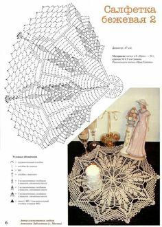 Home Decor Crochet Patterns Part 165 - Beautiful Crochet Patterns and Knitting Patterns Crochet Doily Diagram, Crochet Mandala, Crochet Stitches Patterns, Crochet Chart, Filet Crochet, Knitting Patterns, Crochet Books, Crochet Home, Thread Crochet