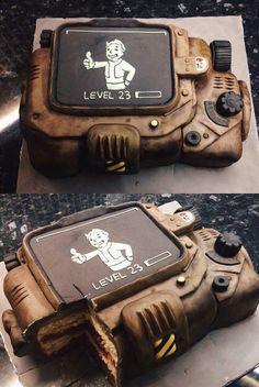 Fallout 4 Pipboy Cake (@graceycat via instagram)