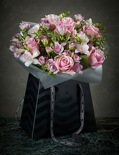 Autograph™ Rose & Freesia Gift Bag Flowers