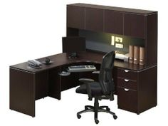 Corner Desk with Hutch JHA150 by Office Source. $895.00. File drawer accommodates letter or legal size files. Keyboard tray is not included. Locking 3 drawer pedestal. Durable melamine finish. Available in Espresso, Cherry, Mahogany, Maple, Modern Walnut or Honey. Corner Desk with HutchbyOffice Source Trusted: 20+ Years Experience. Overall: 71 in W x 71 in D x 65 in H ,