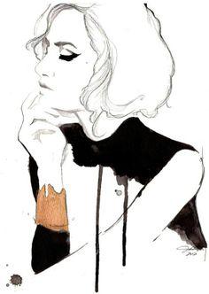 Fashion illustration - stylish & arty, fashion drawing // Jessica Durrant