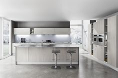 white and grey modern kitchen - Google Search