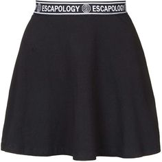 Skater Skirt by Escapology ($31) ❤ liked on Polyvore featuring skirts, bottoms, black, escapology, elastic waist skirt, circle skater skirt, skater skirt, topshop skirt y topshop