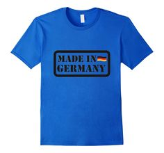 Men's Made In Germany T-shirt Men Women Boys Girls Flag          Small Royal Blue -- Awesome products selected by Anna Churchill