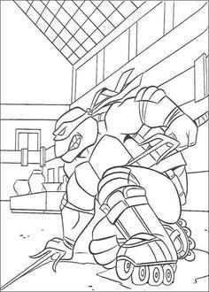 teenage mutant ninja turtles ausmalbilder 38 raphael with twin sai coloring page - Ninja Turtle Pizza Coloring Pages