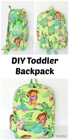 DIY toddler backpack with pattern