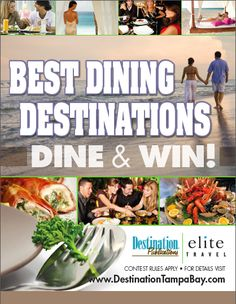 How many times have you dined at our #BestDiningDestinations? The more times you dine, the better your chances to win our grand prize! www.destinationtampabay.com/bestdining