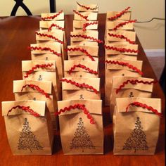 Cookies bagged for cookie exchange party