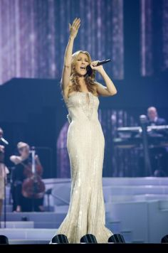 Celine dion-- this was the opening of the show I saw in Las Vegas! God, she is beautiful!