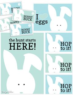 I ran across this cute printable a while ago, and thought that it would be the perfect time to begin planning a fun Easter Egg Hunt!  These printables are from Design Editor.   :: Take me to the Download ::