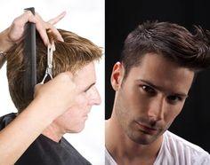 men hair cutting