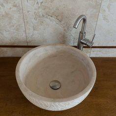 Lavandino bagno travertino B1 - Le Pietre srl | Lavandini da esterno ...