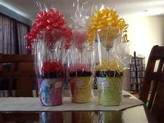 Slush Drink Buckets with a Margarita Glass & fancy wrapping make a perfect gift!