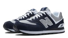 574 New Balance, Navy with Light Grey & White