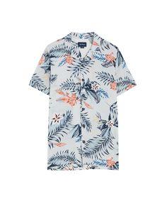 51e5531ed2 Camisa manga corta estampado flores - Camisas - Ropa - Hombre - PULL BEAR  México